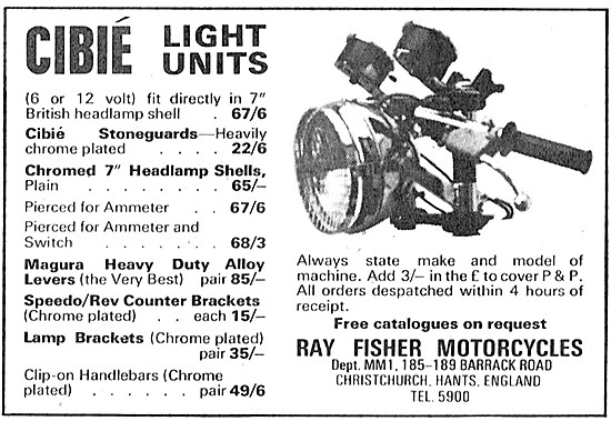 Cibie Motor Cycle Light Units - Ray Fisher Motorcycles