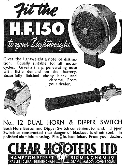 Clear Hooters Horn & Dipper Switch