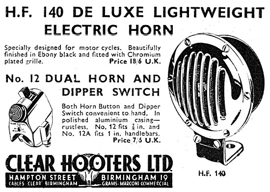 Clear Hooters No 12 Dual Horn & Dipper Switch