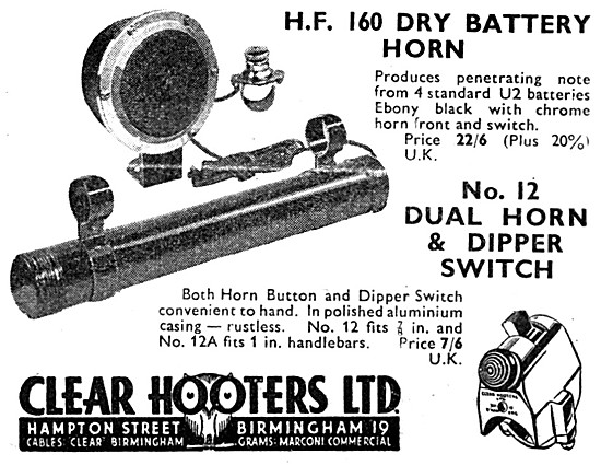 Clear Hooters Dual  Horn & Dipper Switch