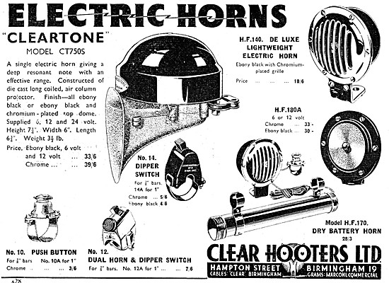 Clear Hooters Electric Motor Cycle Horns