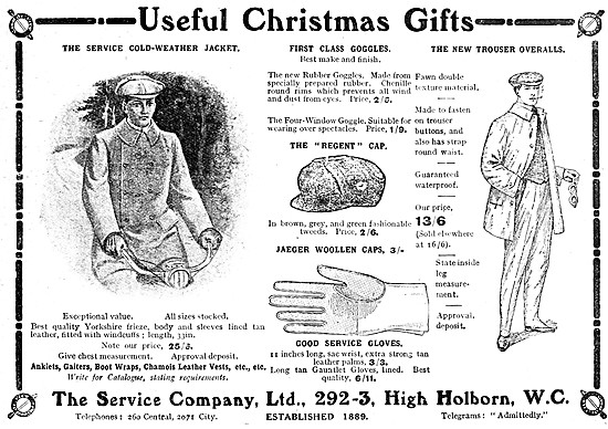 The Service Company Motor Cycle Clothing 1909