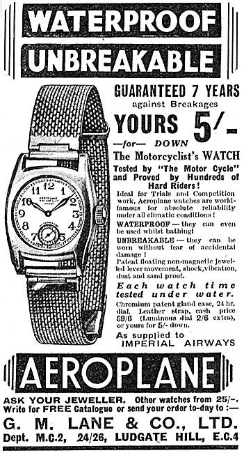 Lane Aeroplane Wrist Watch - The Motorcyclists Watch