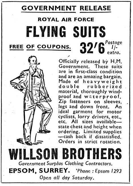 Willson Brothers Government Surplus Weatherproof Clothing