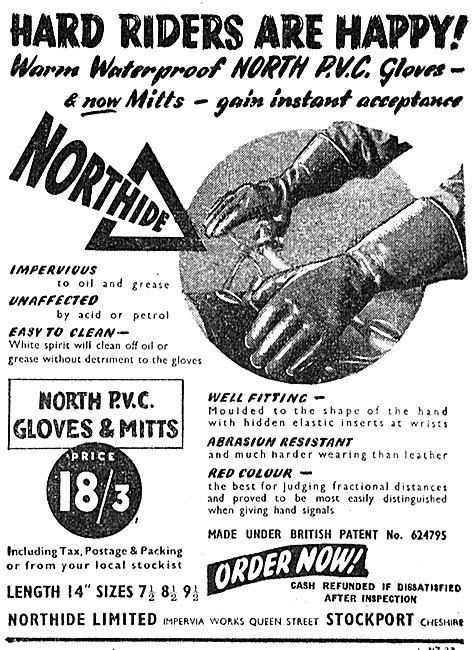 Northide Motor Cycle Gloves - PVC Gloves - PVC Mitts