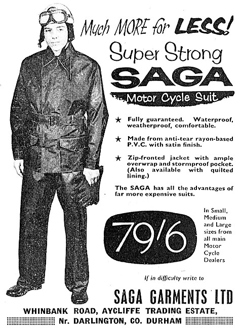 Saga PVC Motor Cycle Suits