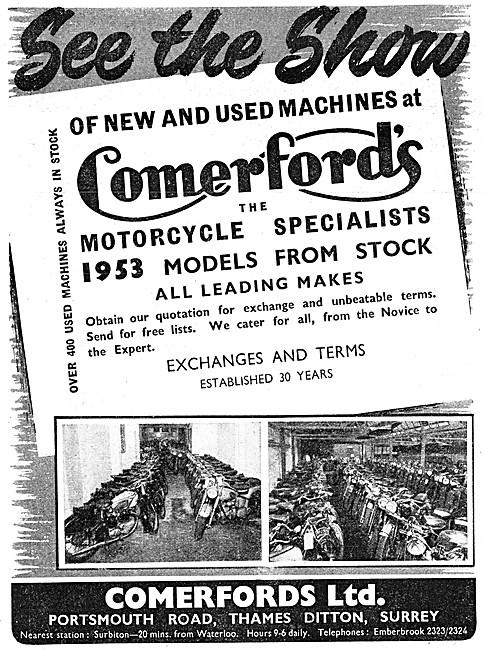 Comerfords Motor Cycle Sales