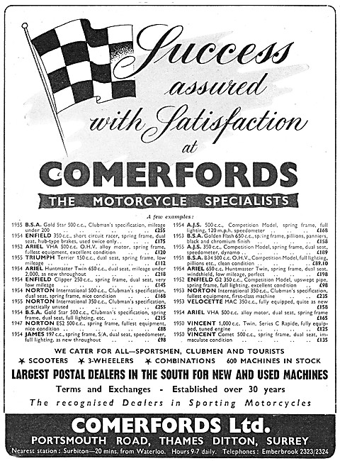 Comerfords Motor Cycle Sales & Service