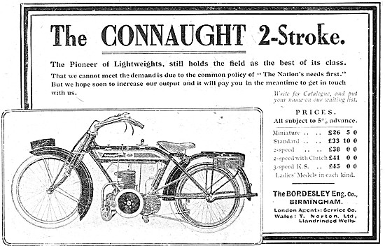 1915 Connaught Two-Stroke Motor Cycles