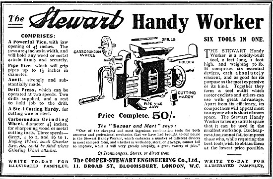The Stewart Handy Worker Six-In-One Bench Tool