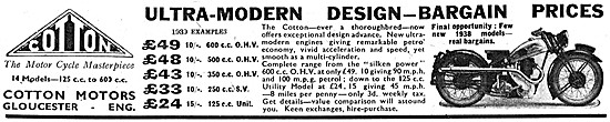 Cotton Motor Cycles 1939