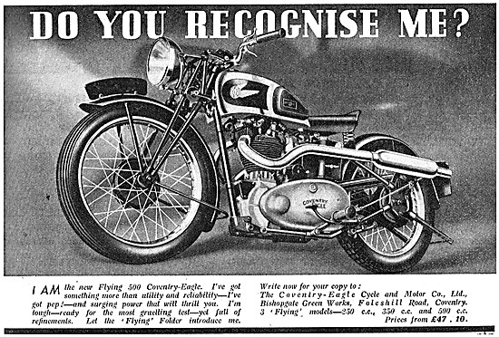 Coventry-Eagle Flying 500 Motor Cycle