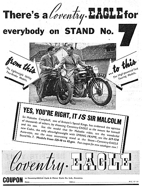 Coventry-Eagle Motor Cycles - EXN 2