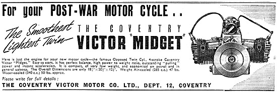 Coventry Victor Midget Motor Cycle Engines