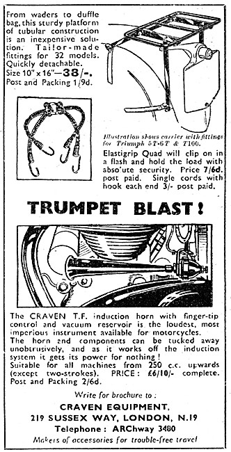 Craven Motor Cycle Induction Horn