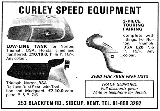 Curley Motorcycle Speed Equipment