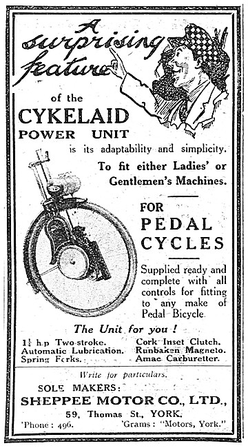 Cykelaid Cycle Motor For Pedal Cycles 1921