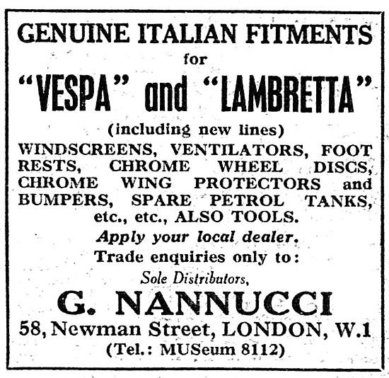 G.Nannucci Genuine Italian Vespa & Lambretta Accessories