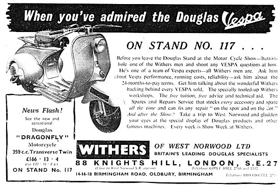Withers Motorcycle Sales & Service. Vespa Dealership