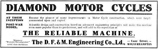 Diamond Motor - 1918 Diamond Motor Cycles
