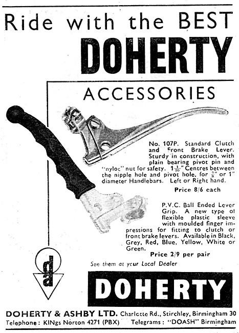 Doherty Motorcycle Accessories - Doherty Control Levers