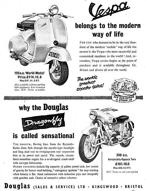 Douglas 125 Vespa Motor Scooter - Douglas Dragonfly