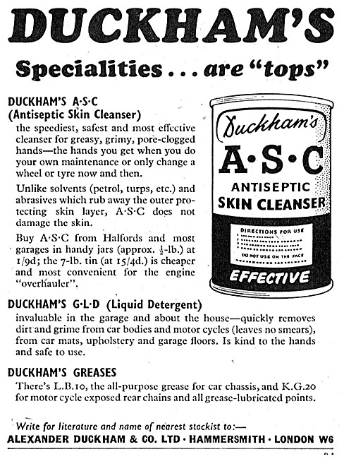 Duckhams A.S.C. Antiseptic Skin Cleanser