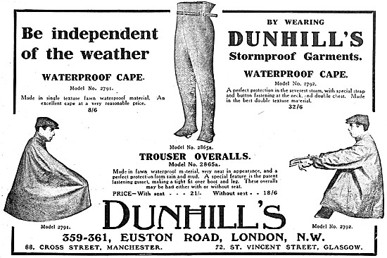 Dunhills Motor Cycle Clothing - Dunhills Stormproof Garments