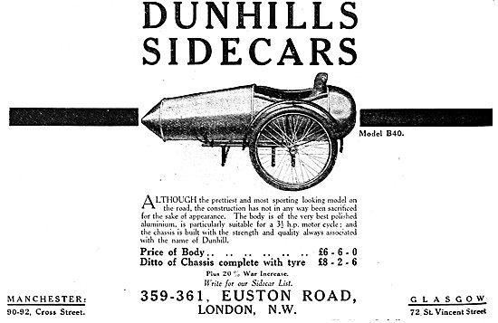 Dunhills Sidecars