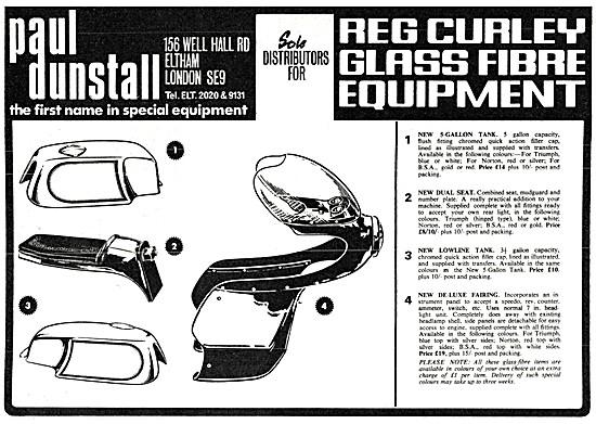 Paul Dunstall  Custom Parts - Reg Curley