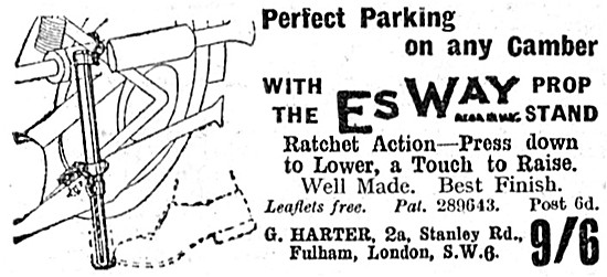 EsWay Motorcycle Prop Stand 1938