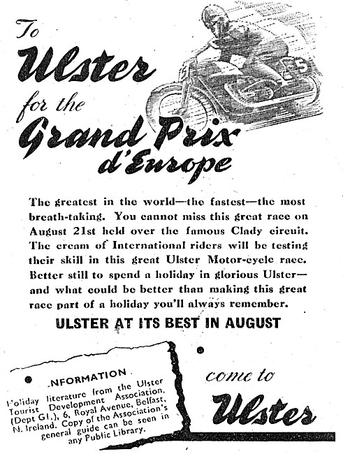 Ulster Grand Prix d'Europe August 1948