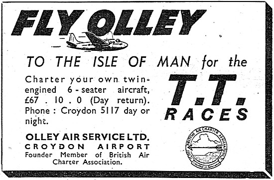 Olley Air Service To The Isle of Man For TT Week 1948