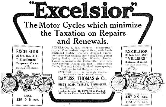 Excelsior 2 1/2 hp Villers - Excelsior Blackburne 2 1/4 hp