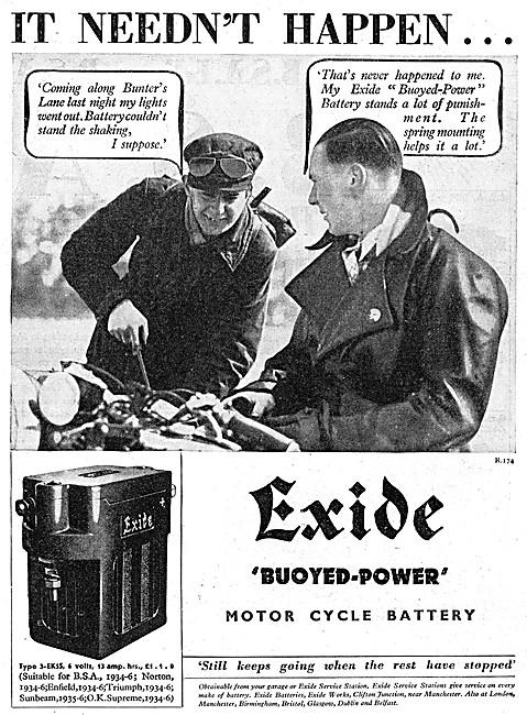 Exide Motor Cycle Batteries