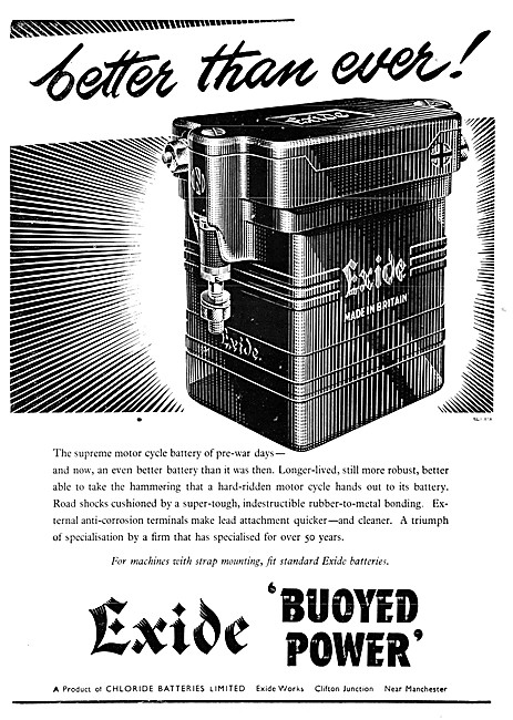 Exide Buoyed Power Batteries For Motor Cycles