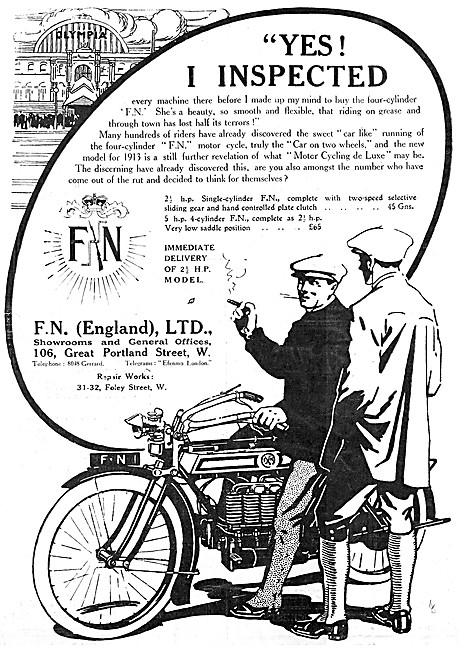 F.N.Motor Cycles - 1912 2.5 hp FN