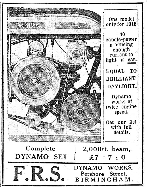 F.R.S. Motorcycle Lamps - FRS Motor Cycle Dynamo