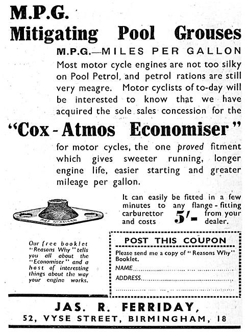 Feridax Cox-Atmos Petrol Economiser