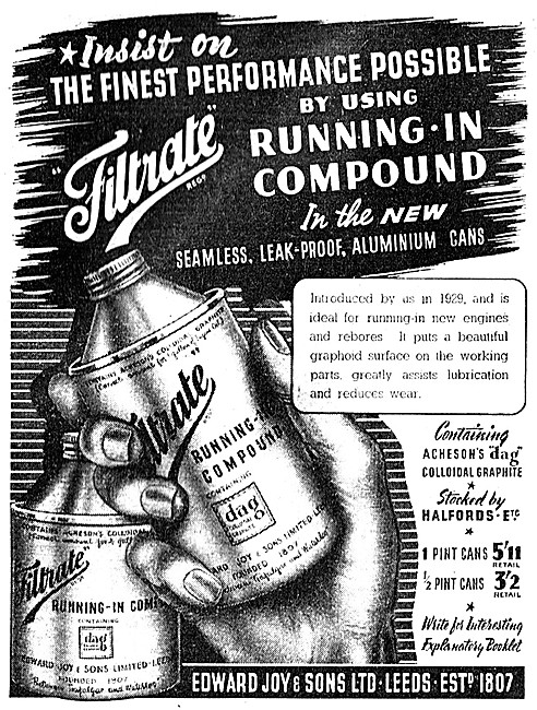 Filtrate Running-In Compound