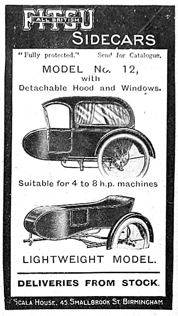 Fitsu Sidecars - 1915 Fitsu Model 12 Sidecar