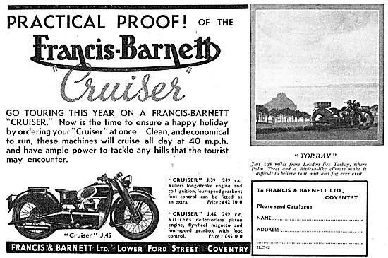 Francis-Barnett Cruiser J.45