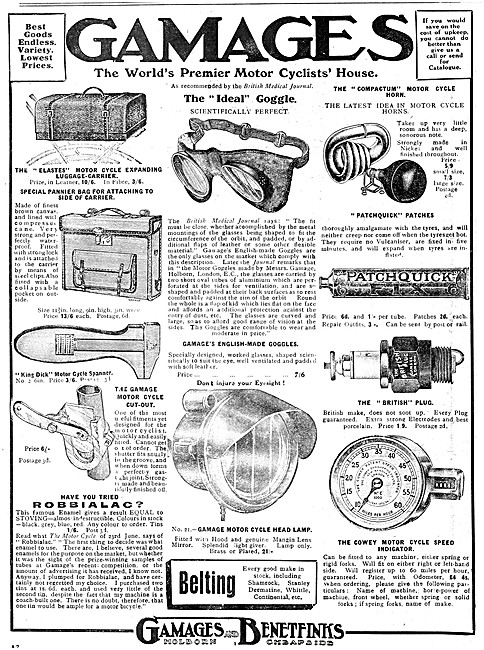 Gamages Motor Cycle Accessories