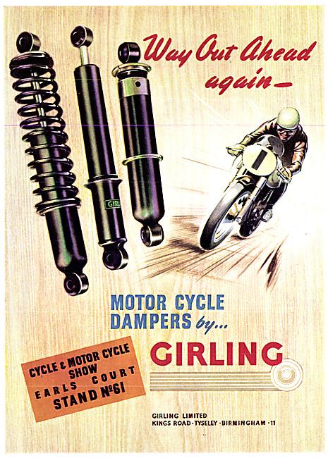 Girling Motor Cycle Dampers