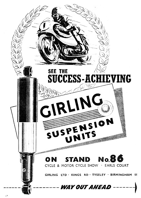 Girling Motor Cycle Suspension Units - Girling Shock Absorbers