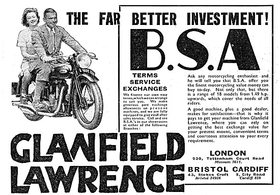 Glanfield Lawrence Motor Cycle Sales & Service