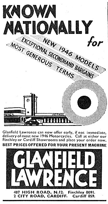 Glanfield Lawrence Motor Cycle Sales