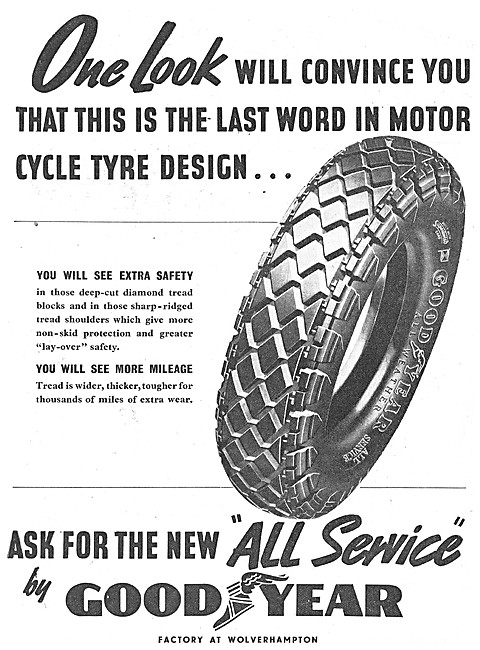 Goodyear All Service Motor Cycle Tyres