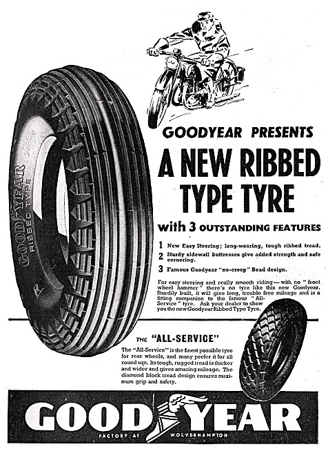 Goodyear Motor Cycle Tyres 1939