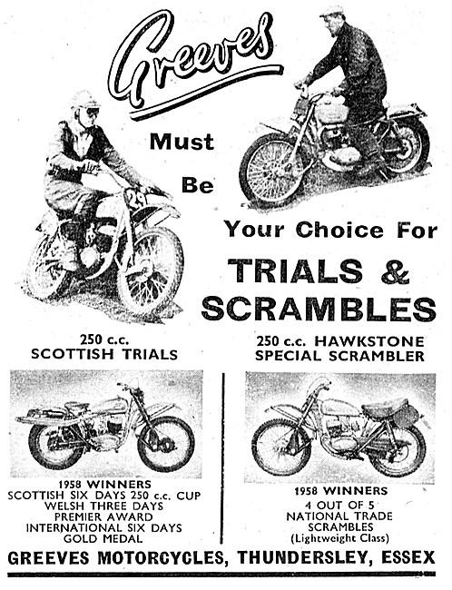 Greeves Trials Motorcycles - Greeves Hawkestone Scrambler